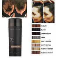 27.5g 100g Fibers de renforcement des cheveux Fibre de cheveux produit recharge sac 100g Fiber de barbe brun foncé blond noir pour hommes femmes Toppik