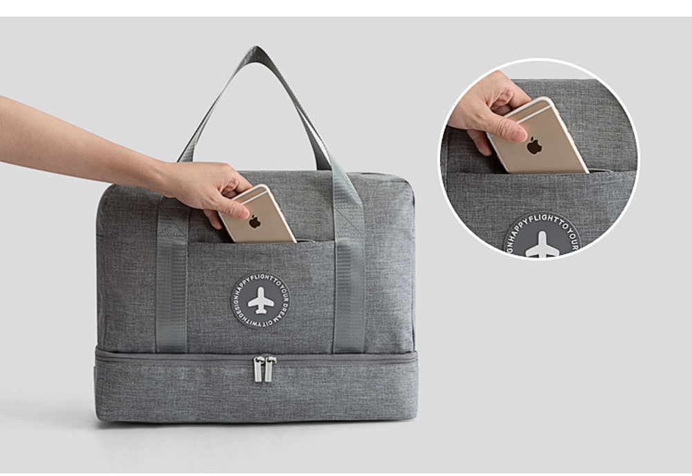 Dual-Pouch Dry/Wet Travel Bag