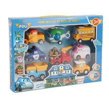 """8 в 1 робот игрушечных автомобилей нетоксичный тянуть обратно автомобили транспортного средства Набор Робот-трансформер """"милый мультфильм образовательная игрушка для детей"""