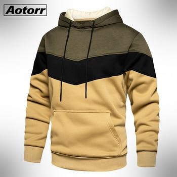 Mens Hoodies Sweatshirt Long Sleeve Autumn Winter Casual Fleece Hoodies Top Brand Blouse Tracksuits Sweatshirts Hoodies Men 1