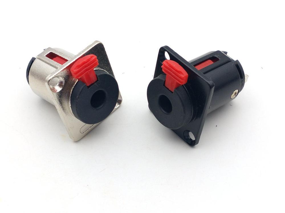 6.35mm estéreo fêmea painel de montagem trs 1/4 polegada fêmea soquete chassi microfone microfone cabo áudio