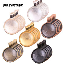 10pcs/lot 2020 New 8 Colors Plated Classic Pattern Fit 25mm Glass Cabochon Base Setting DIY Jewelry Making Findings