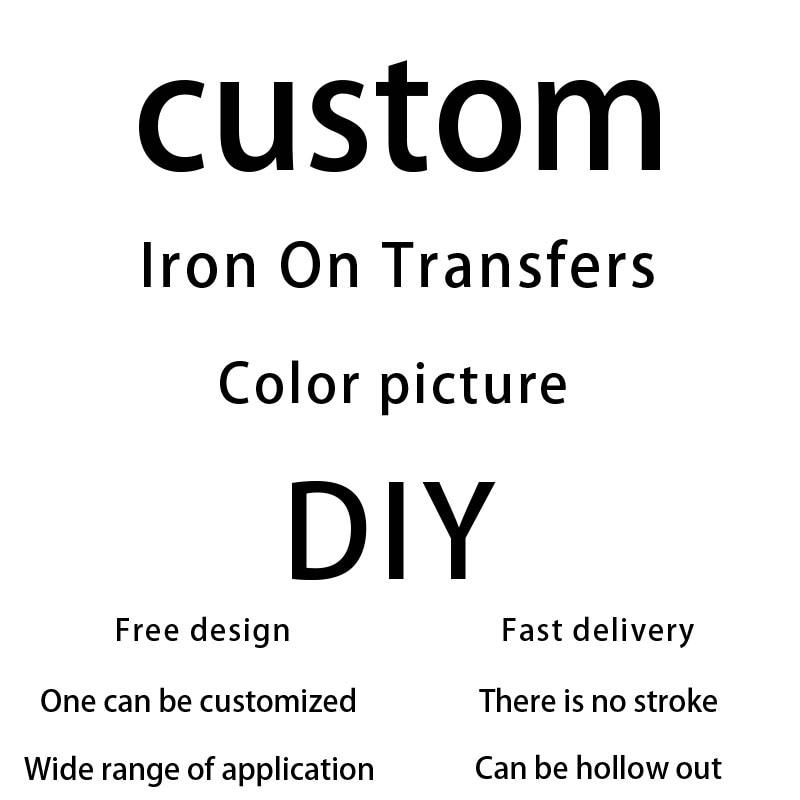 Spersonalizowana odzież własny wzór LOGO firmy gorący transfer nadrukowana odzież naklejki modne markowe z wzorem customizatio