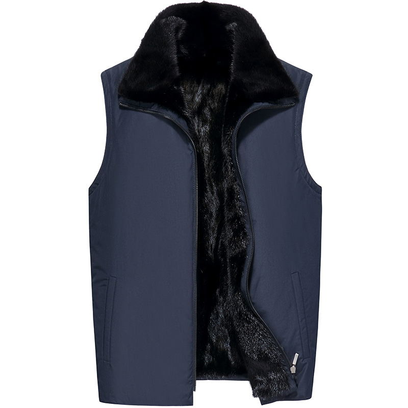 2019 New Autumn And Winter Overcoming Men's Double-sided Wearing A Mink Fur Liner Vest