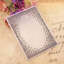Background  Decoration Plastic Embossing Folder For Scrapbook DIY Album Card Tool Plastic Template 0428
