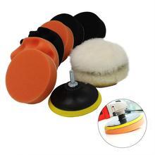 10 piezas de coche almohadillas de pulido esponja pulido Pad Kit para pulidor de coche con adaptador taladro pulido accesorios de coche