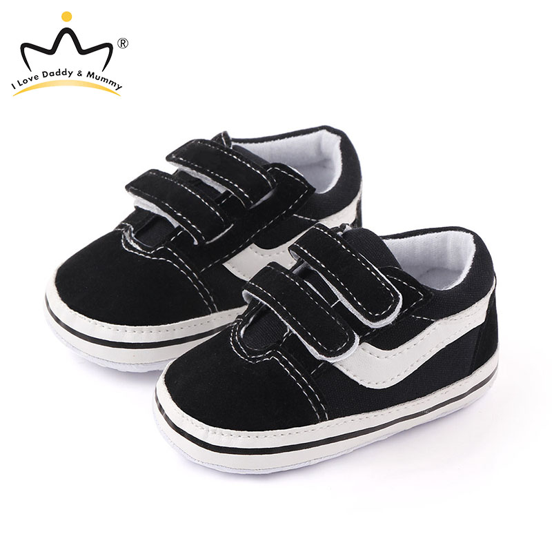 Spring Summer New White Black Baby Shoes Soft Cotton Non-slip Sneakers Casual Shoes For Baby Boy Girl Infant Toddler Shoes