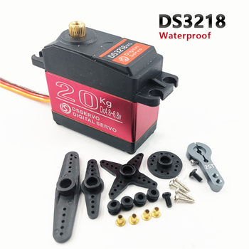 4 pcs RC servo 20KG DS3218 or PRO digital servo baja servo high torque and speed 0.09S metal gear for 1/8 1/10 Scale RC Cars rc servo tower pro mg92b digital metal gear metallgetriebe 3 5kg torque for model plane jetrc airplane rc helicopter parts