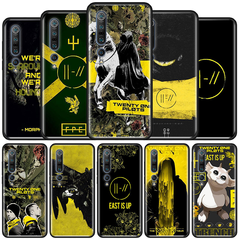 Twenty One Pilots Trench Case For Xiaomi Mi Note 10 Yoth 5G 9T Pro 9 SE 8 A2 Lite CC9 A3 Poco X2 F1 Black Soft Coque Casos