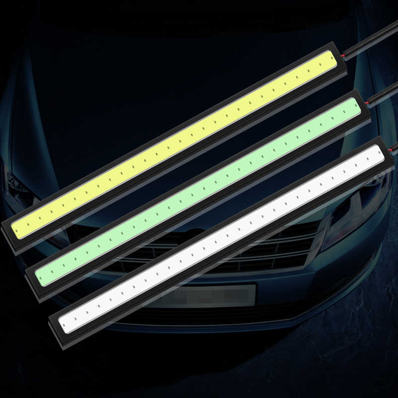 2 uds 17cm luz diurna DC 12V LED COB LED DRL conducción luces de circulación diurna con coche impermeable de LED externa luces de niebla