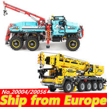 20056 20004 power Technic Motor Construction Engineering Crane Mk II Truck Building Blocks 42070 42009 bricks birthday Child toy(China)