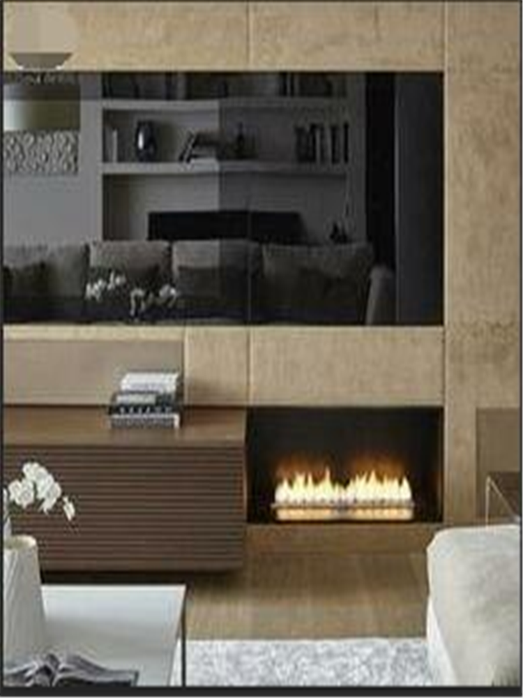 24 Inch Real Fire Automatic Intelligent Smart Alexa Bioethanol Indoor Fireplace Metal Box