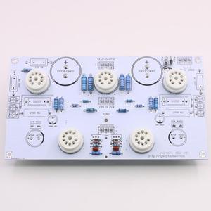 Image 2 - 6N2/6N1 6P1 3W * 2 stereo güç amplifikatörü bitmiş kurulu içerir elektronik tüp amplifikatör kurulu ile 6E2 seviye göstergesi