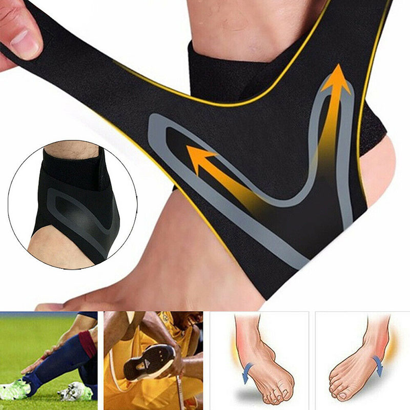 Adjustable Elastic Ankle Sleeve Brace Foot Support Guard For Sports Running KS-shipping