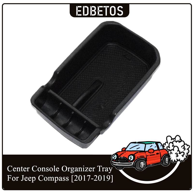 Car Armrest Storage Box Holder Container Organizer For Jeep Compass 2017-2019