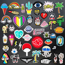 Hamburger Cloud Bird DIY Iron on Patch Sew On Patches for Clothing Embroidered Sewing Applique Cactus Insect