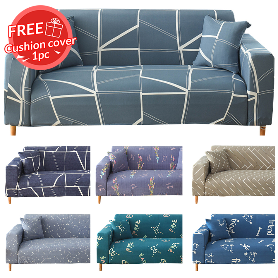 1//2//3//4 Sofa Couch Slipcover Stretch Covers Elastic Settee Protector Comfortable