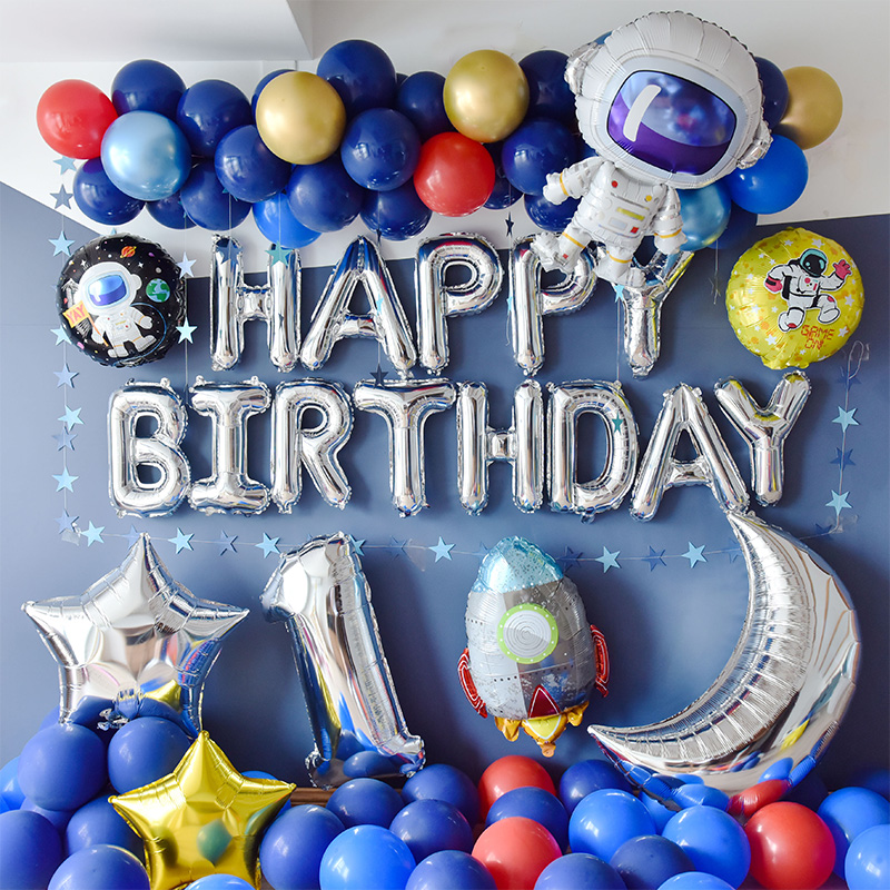 Creative Outer Space Party Astronaut Rocket Airplane Foil Balloons Boy Kids Toy Birthday Party Decoration Favors