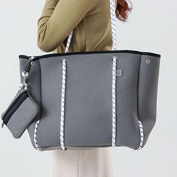 Large Capacity Neoprene Shoulder Bag Casual Tote Summer Beach Shopping Handbag 517D 1