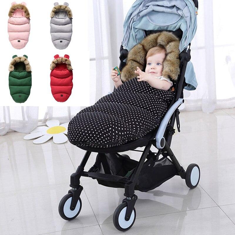 Детский спальный мешок для младенцев, зимний спальный мешок для коляски, плотный теплый конверт для коляски, спальные мешки, спальный мешок