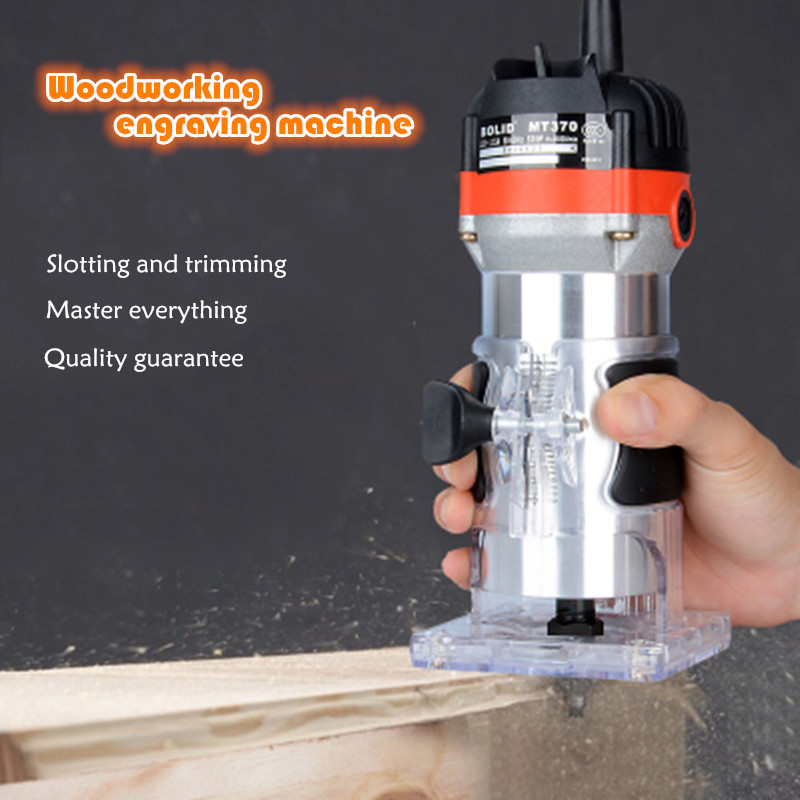 Woodworking Slotting Machine Engraving Machine Electric Router Electrical Tapping Machine