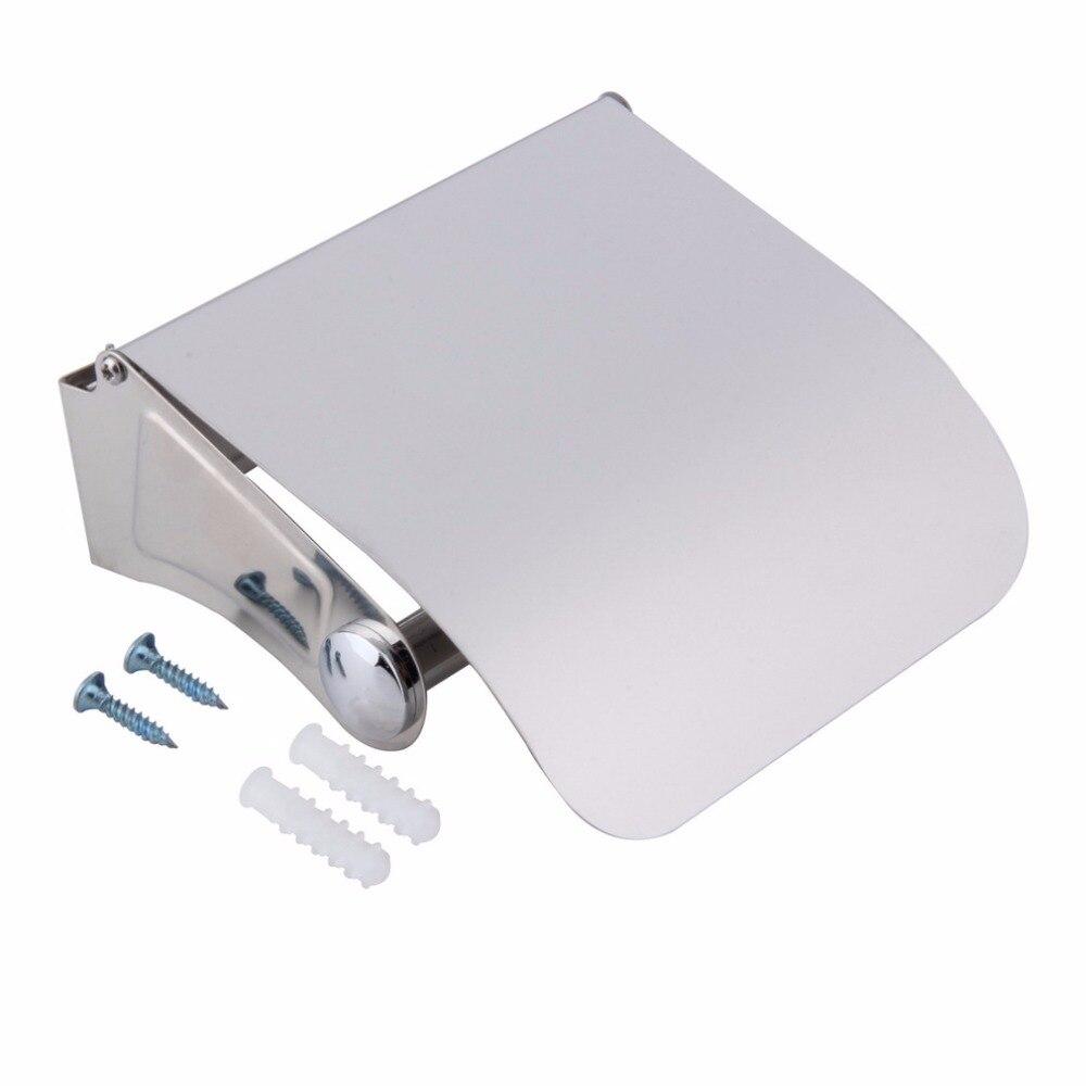 Stainless Steel Toilet Paper Holder Tissue Holder Roll Paper Holder Box Durable Bathroom Accessories
