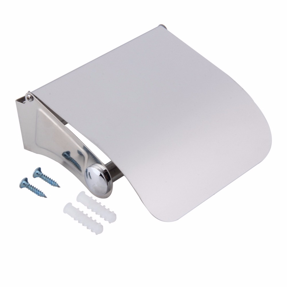 Stainless Steel Toilet Paper Holder Tissue Holder Roll Paper Holder Box Durable Bathroom Accessories