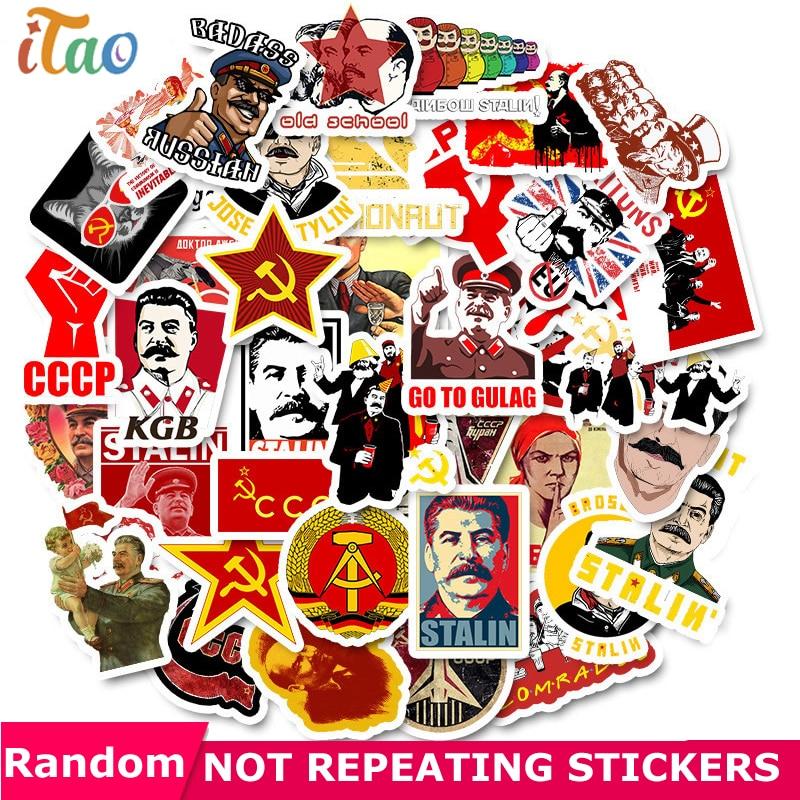 10/20/30/40/50pcs Soviet Stalin USSR CCCP Sticker Waterproof PVC Skateboard Motorcycle Luggage Laptop Guitar Kids Toys Stickers