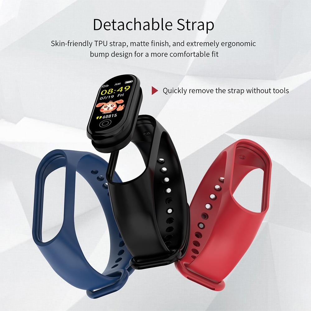 Meeker banda inteligente pulseira monitor de freqüência