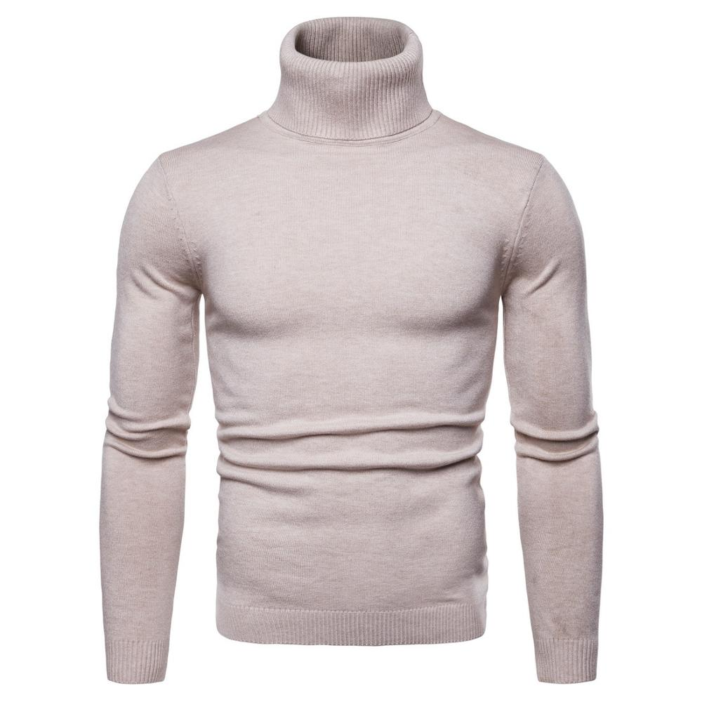 Turtleneck Cashmere Sweater Men 2019 Autumn Winter New Casual Solid Color Classic Knitwear Robe Pull Homme Pullover Men Sweaters