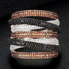 GODKI Monaco Anillos apilables para mujer, diseño de lujo, apilables, circón cúbico de boda, compromiso, Dubai, Naija, anillo de dedo de la boda