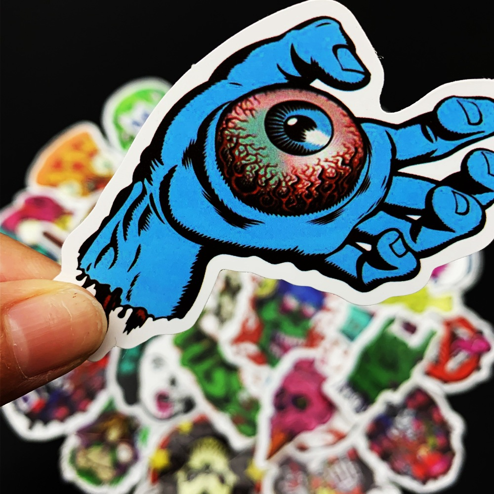 Skateboard Stickers  Kpop Stickers  Sticker 50pcs Horror Thrill Motorcycle Scooter Suitcase Notebook Guitar Sticker MTZ043-67