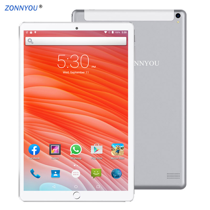 2.5D Steel Screen 10.1 Inch Tablet PC 4G/3G Phone Call 6GB/128GB Octa Core Support Google Play  Wi-Fi Bluetooth Super Tablet PC