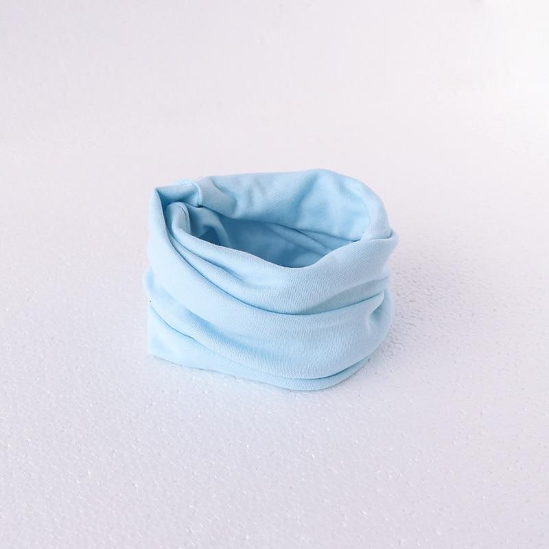 Милый хлопковый детский шарф, Детские однотонные осенне-зимние теплые шарфы с принтом, шарф с круглым вырезом для мальчиков и девочек - Цвет: 13