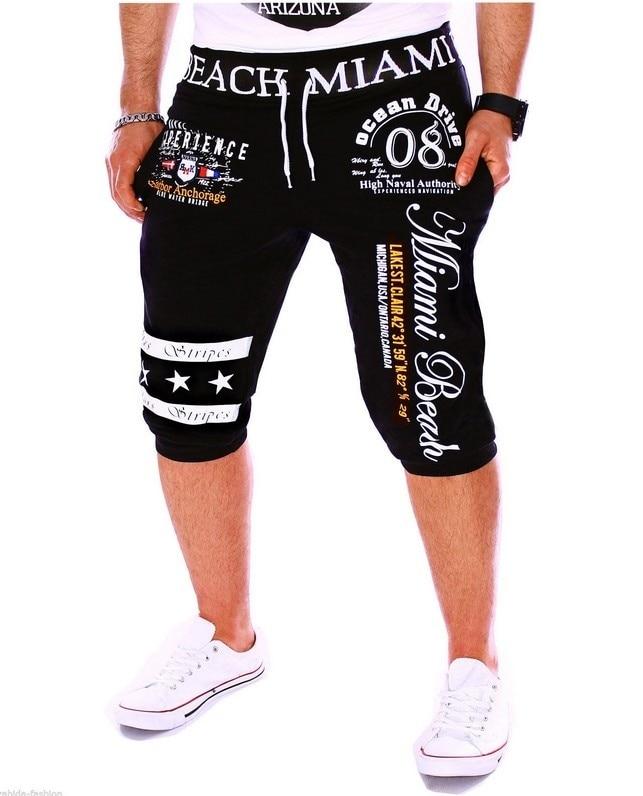 cordão elástico na cintura masculina shorts impressão