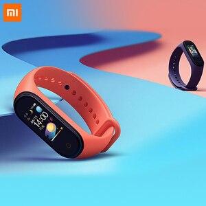 Image 5 - Küresel sürüm orijinal XiaoMi Mi Band 4 akıllı bileklik spor bilezik kalp hızı zaman büyük dokunmatik ekran mesaj Smartband