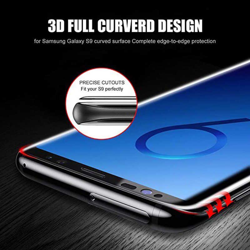 زجاج واقي لسامسونج S9 S8 زائد S7 S6 حافة Glas المقسى واقي للشاشة 3D حالة على غالاكسي 8s 9s 7s S 9 8 7 6 حافة فيلم