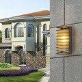 5 шт. современный светодиодный настенный светильник 15 Вт AC 110v 220v для Холл гостиница вилла Водонепроницаемый полукруг Алюминий настенный све...