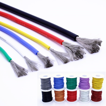 Free shipping 10 meters high quality silicone wire and cable 12 13 14 15 16 17 18 20 22 24 26 28 30AWG heat and cold resistant nlw t1b613 14 16 18 20