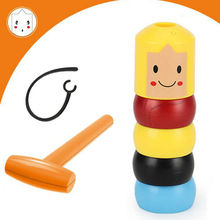 2019 Newest Magic Stubborn Wood Man Toy Funny Magnet Wooden Unbreakable Magic To