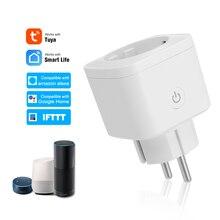 Умная розетка Wi-Fi Европейского типа E, беспроводная умная розетка с дистанционным управлением, совместима с Amazon Alexa, Google Home