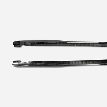 Car-styling Carbon Fiber Side Skirt Step Extension Glossy Finish Door Sill Panel Trim Fibre Tuning Part Fit For Nissan Z33 350Z