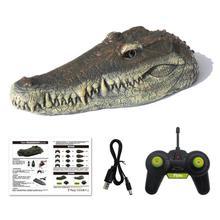Моделирование RC крокодил лодка 2,4 ГГц 15 км/ч дистанционное управление катер для вождения водоплавающая защита бассейн пародия игрушка