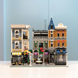 In Stock 10255 4002pcs City Street View series Assembly Square Building Blocks Bricks Kids Toys Christmas gifts 15019