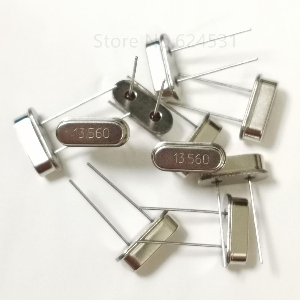 10pcs In-line passive crystal oscillator 13.56M 49S resonance 13.560MHZ HC-49S DIP 2P resonator