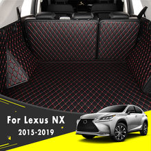 Custom Car Floor Mats for Lexus RC RC200t RC250 RC300 RC350 2016 2017 2018 Luxury Leather Waterproof Anti-Skid Full Coverage Front Mat and Rear mat//Set Black red