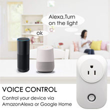 WiFi Smart Plug Socket  Outlet US Mini Plug  Remote Control Timer Plug Wireless Smart Life Works with  Alexa Google Home D30