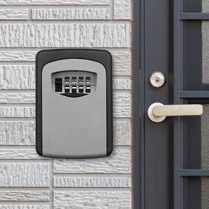 Image 3 - ウォールマウントキー金庫アルミ合金キー収納ボックス 4 桁コンビネーションパスワードボックス屋内屋外での使用