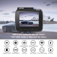 4K Built In Gps Wifi Car Dvrs Recorder Dash Cam Dual Lens Vehicle Rear View Camera Camcorder Night Vision Dashcam