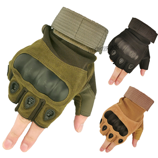 Tactical Hard Knuckle Half finger Gloves Men's Army Military Combat Hunting Shooting Airsoft Paintball Police Duty - Fingerless 1